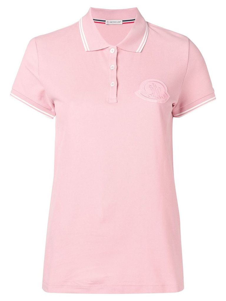 Moncler basic polo shirt - Pink