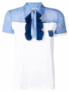 Prada ruffle detail polo shirt - White