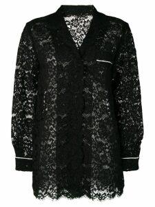 Dolce & Gabbana sheer lace shirt - Black