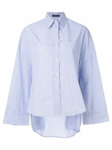 R13 oversized pinstripe shirt - Blue