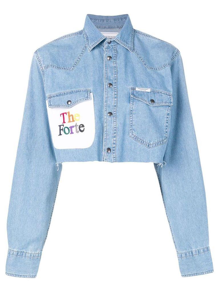 Forte Dei Marmi Couture cropped denim shirt - Blue