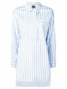 Lorena Antoniazzi patchwork striped shirt - Blue