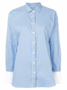 Closed striped button shirt - Blue