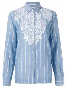 Ermanno Scervino lace panel shirt - Blue