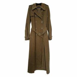 Velvet trench coat