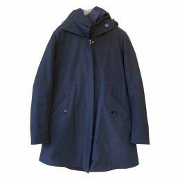 Navy Polyester Coat