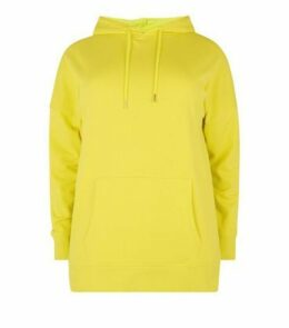 Curves Green Neon Oversized Hoodie New Look