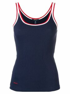 Polo Ralph Lauren contrast trim tank top - Blue