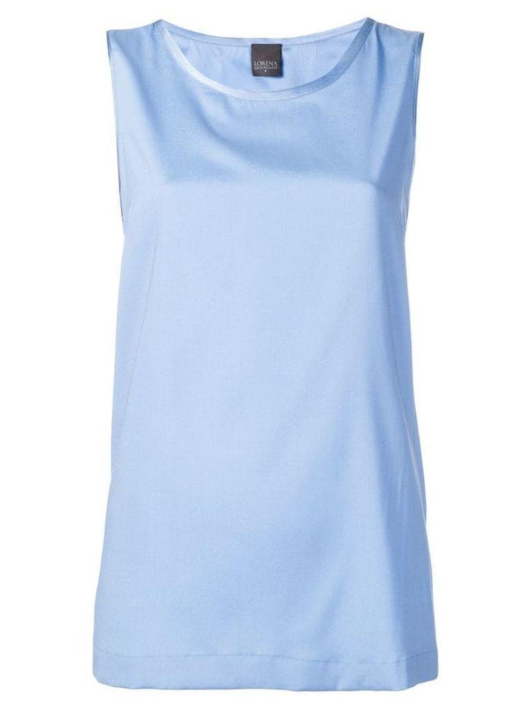 Lorena Antoniazzi round neck tank top - Blue