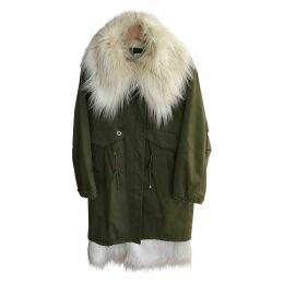 Green Polyester Coat