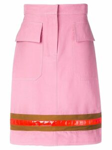 Calvin Klein stripe detail skirt - Pink