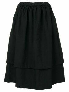 Comme Des Garçons Comme Des Garçons layered midi skirt - Black