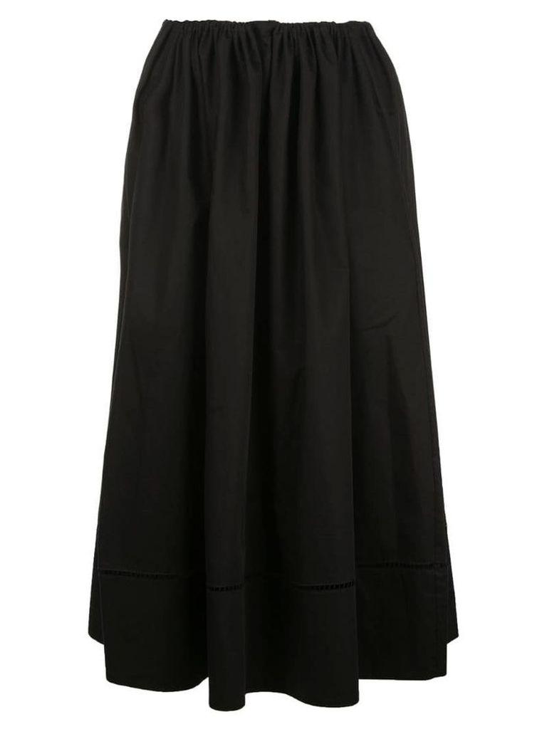 Khaite drawstring flared skirt - Black