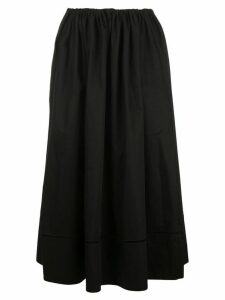 Khaite drawstring flared skirt - Black