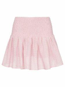 Marysia Lahaina smocked waist cotton mini skirt - Pink