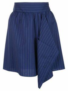 Maison Rabih Kayrouz pinstriped skirt - Blue