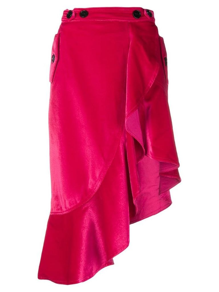 Self-Portrait ruffled hem skirt - Pink