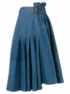 JW Anderson asymmetric denim skirt - Blue