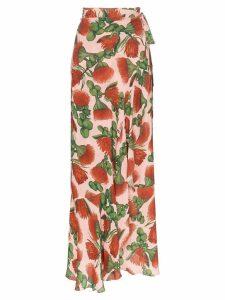 Adriana Degreas fiore pareo ruffle detail skirt - Pink