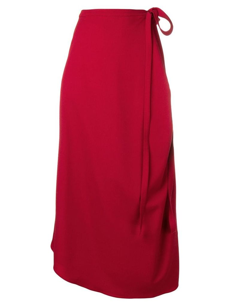 Y/Project high waisted wrap around skirt - Red