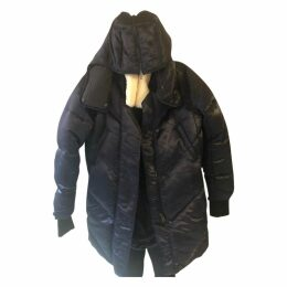 Navy Polyester Coat