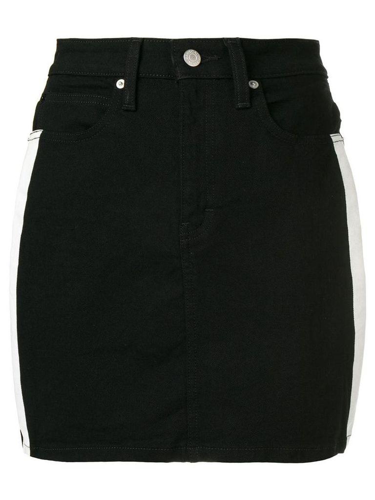Calvin Klein Jeans side-stripe skirt - Black