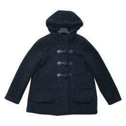 Blue Polyester Coat