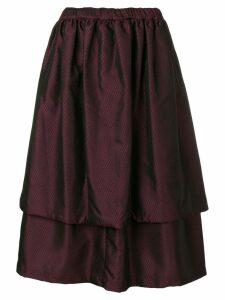 Comme Des Garçons Comme Des Garçons layered midi skirt - Purple