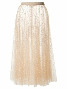 Khaite dotted tulle skirt - Neutrals