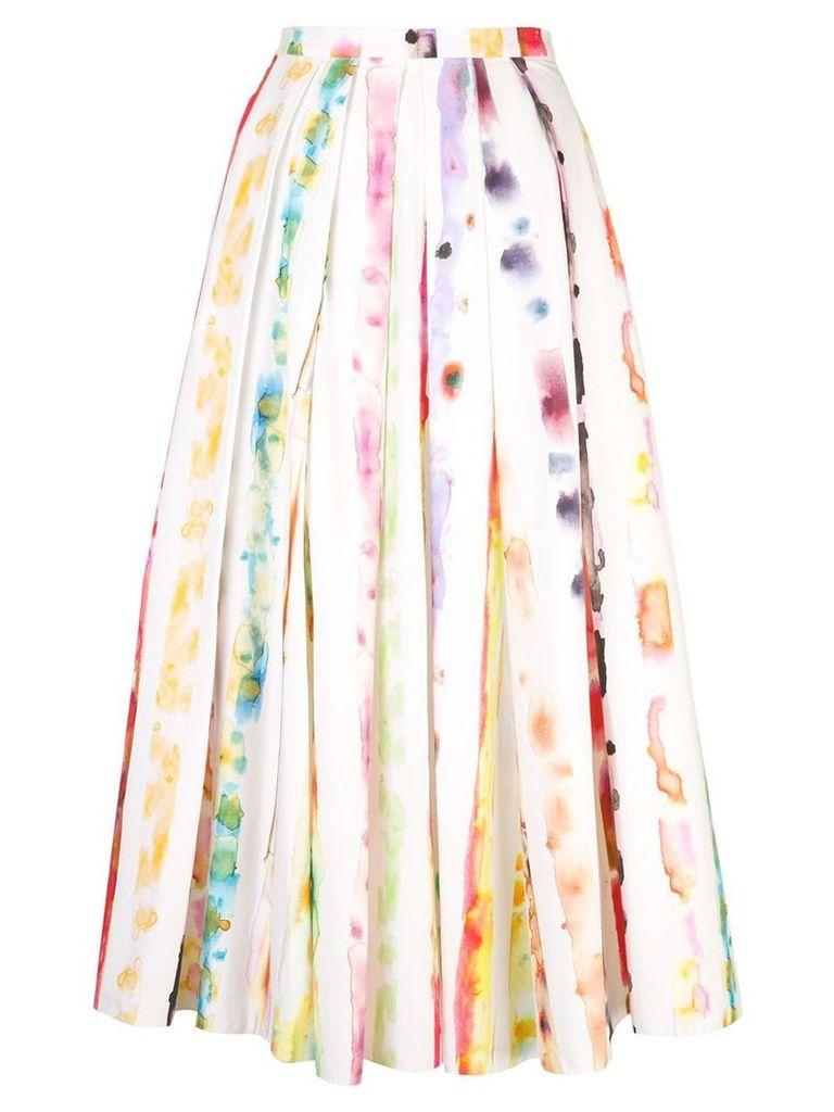 Rosie Assoulin watercolour print skirt - Multicolour