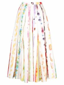 Rosie Assoulin watercolour print skirt - Multicolour