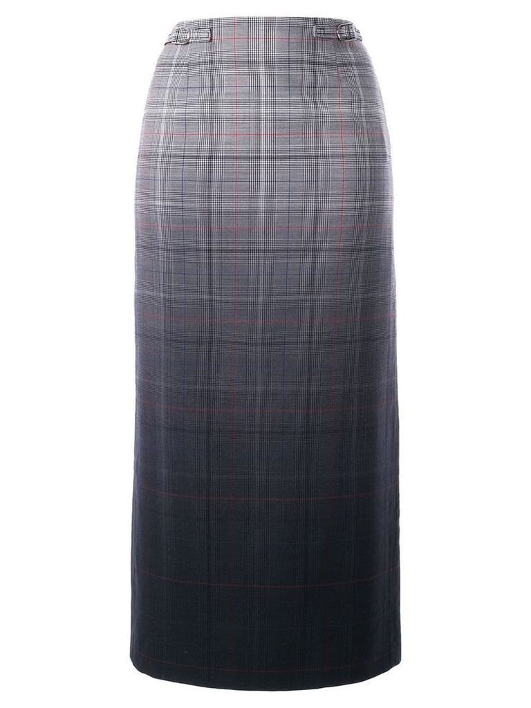 Gabriela Hearst plaid midi pencil skirt - Grey