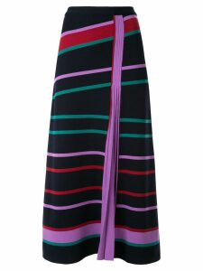 Gabriela Hearst striped pleated panel skirt - Blue
