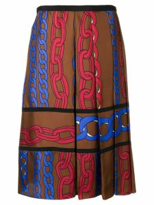 Marni chain print skirt - Brown