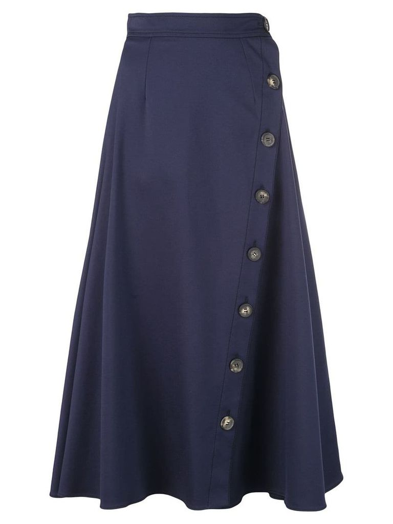Carolina Herrera buttoned midi skirt - Blue