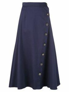 Carolina Herrera buttoned midi skirt - Blue