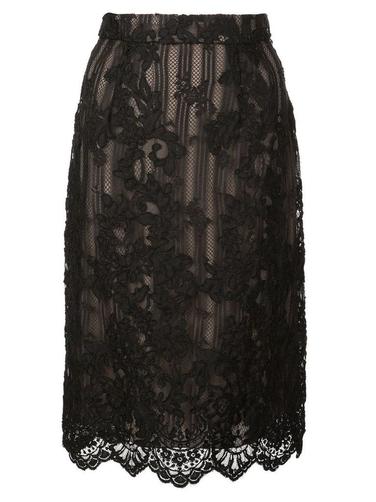 Marchesa lace detail skirt - Black