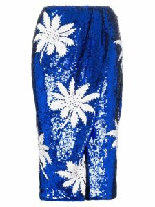 Filles A Papa high-waisted floral sequin embellished skirt - Blue