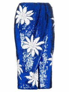 Filles A Papa high-waisted floral sequin embellished skirt - Blue
