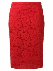 Valentino lace pencil skirt - Red