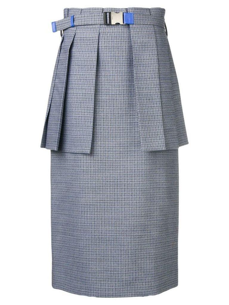 Fendi pleated peplum skirt - Blue