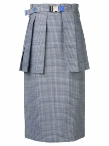 Fendi pleated peplum skirt - Blue