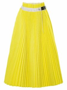 Sacai pleated midi skirt - Yellow
