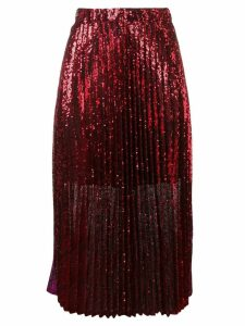 Philosophy Di Lorenzo Serafini sequinned pleated skirt - Red