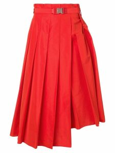Fendi long pleated skirt - Red