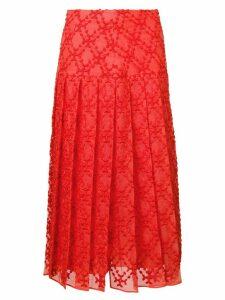 Fendi textured pleated skirt
