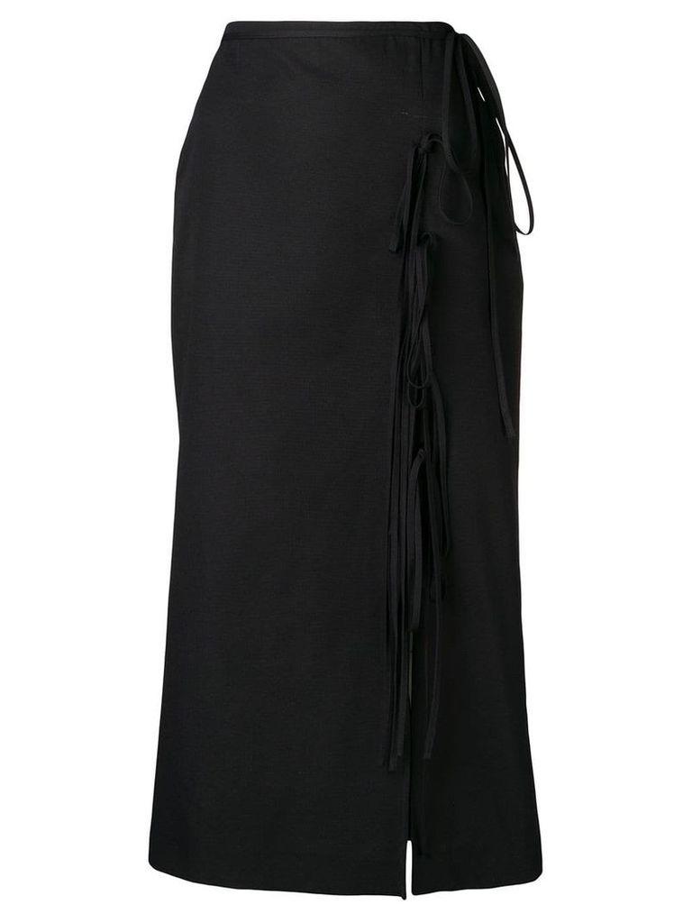 Brock Collection wrap midi skirt - Black