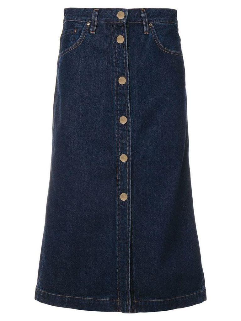GOLDSIGN denim midi skirt - Blue