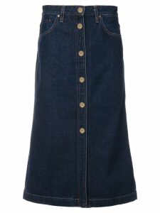 GOLDSIGN denim midi skirt - Blue