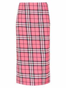 Reinaldo Lourenço check mid skirt - Pink